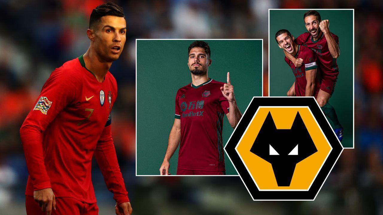 Ausweichtrikot: Wolverhampton nun auch optisch im Portugal-Style - Bildquelle: Getty Images/twitter@Wolves