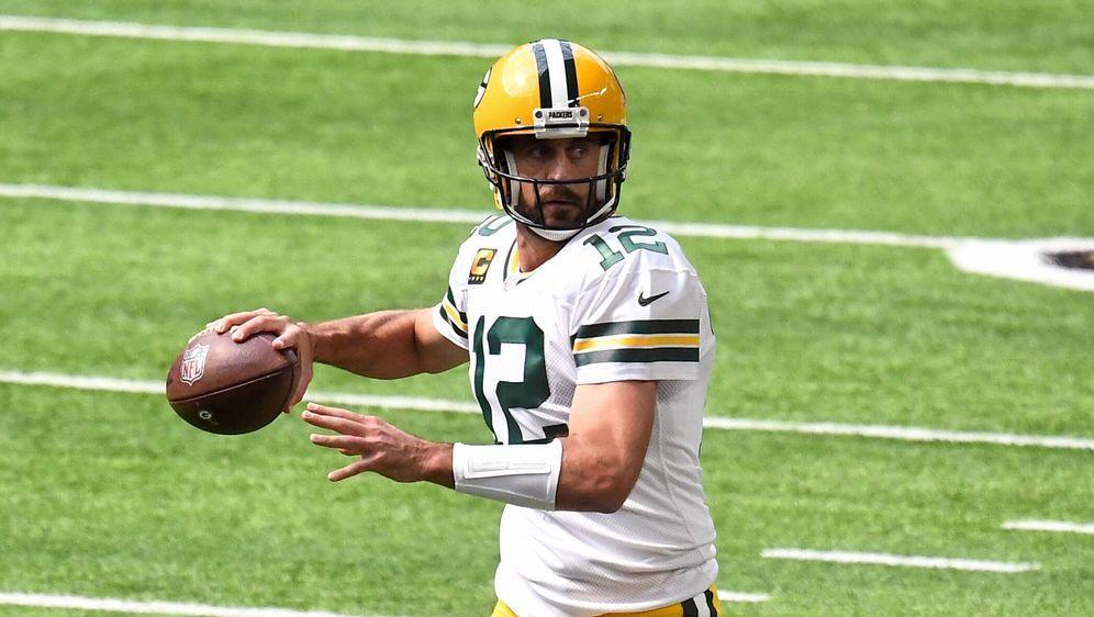 Was passiert mit Packers-Quarterback Aaron Rodgers? Diese Frage beschäftigt ... - Bildquelle: imago images/Icon SMI