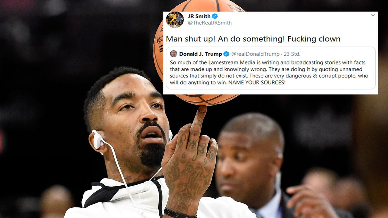 NBA-Profi J.R. Smith weist Donald Trump auf Twitter zurecht - Bildquelle: Getty Images, Twitter/@TheRealJRSmith