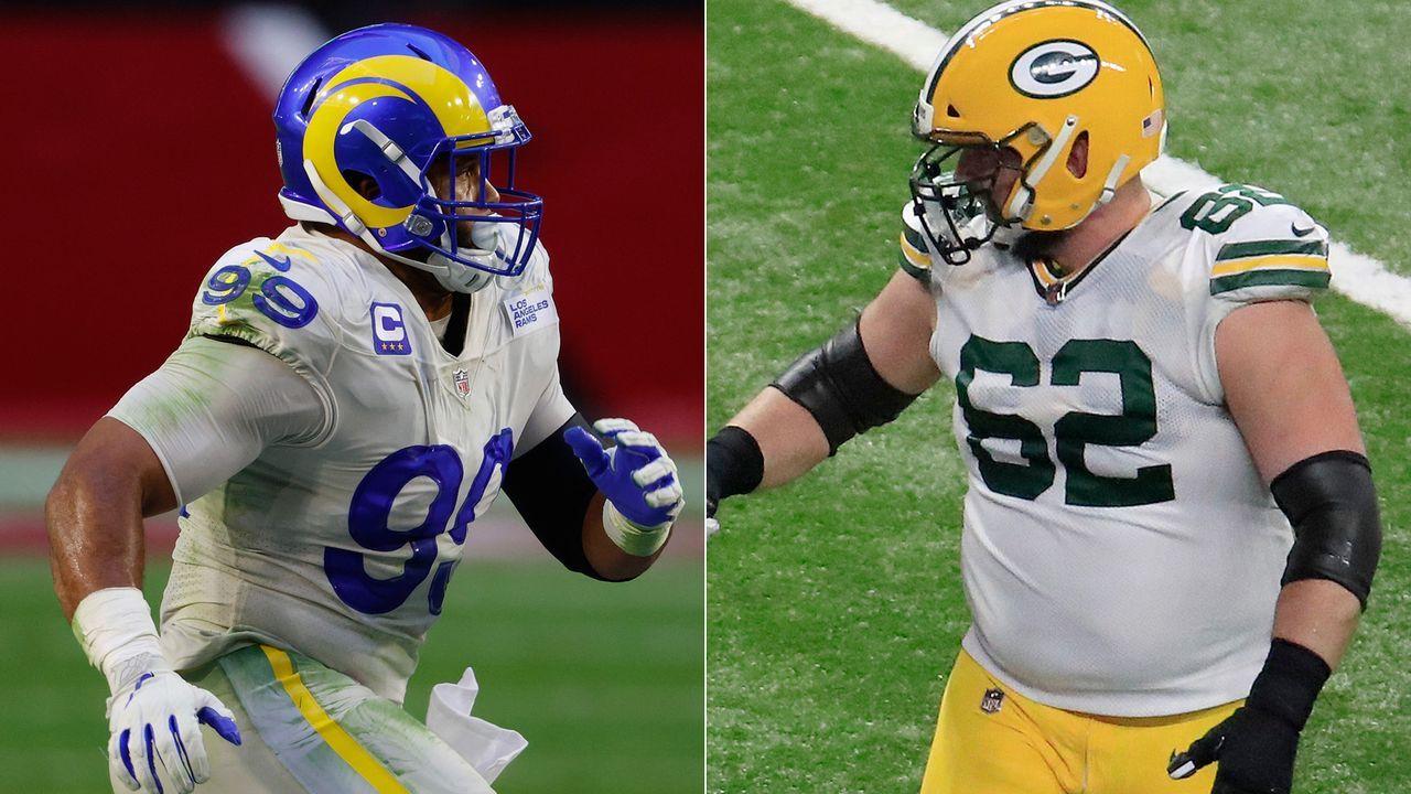 Rams at Packers: Aaron Donald vs. Lucas Patrick - Bildquelle: Getty
