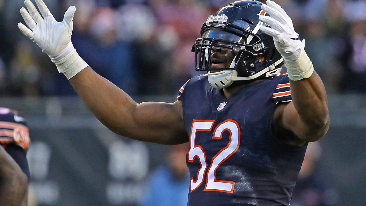 8. Khalil Mack (Edge Linebacker, Chicago Bears), PFF Grade 90,7 - Bildquelle: 2018 Getty Images