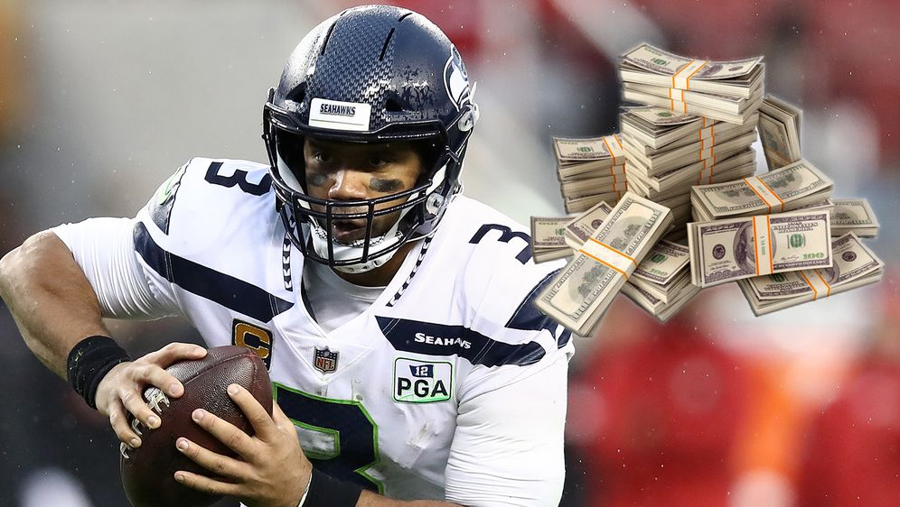Russell Wilson rechnet sich gute Chancen auf den höchst dotierten Vertrag in... - Bildquelle: Getty Images