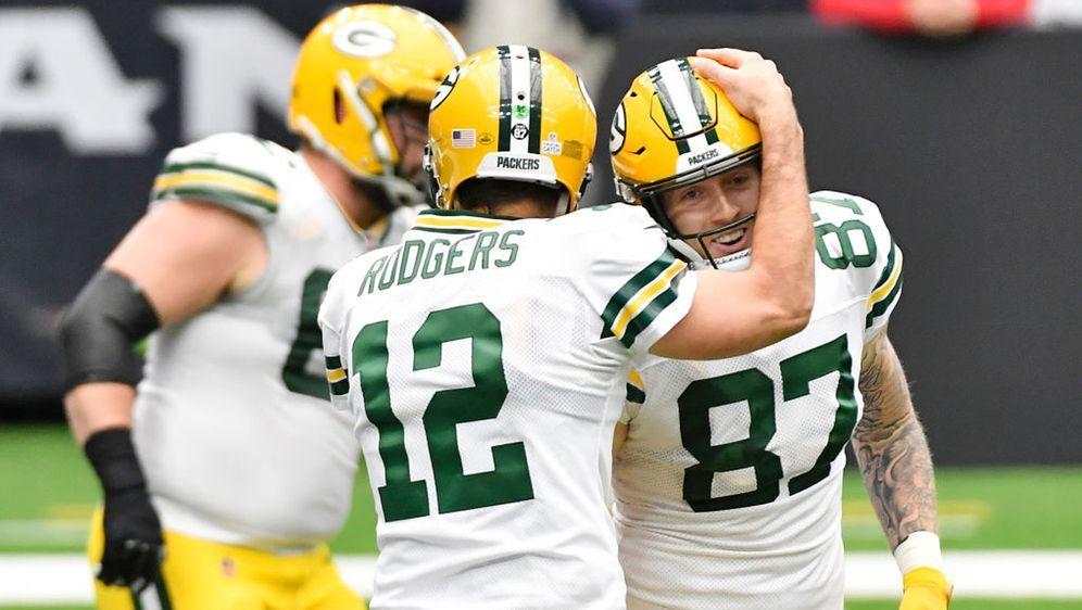 Die Green Bay Packers hatten im Spiel gegen die Houston Texans allen Grund z... - Bildquelle: 2020 Getty Images
