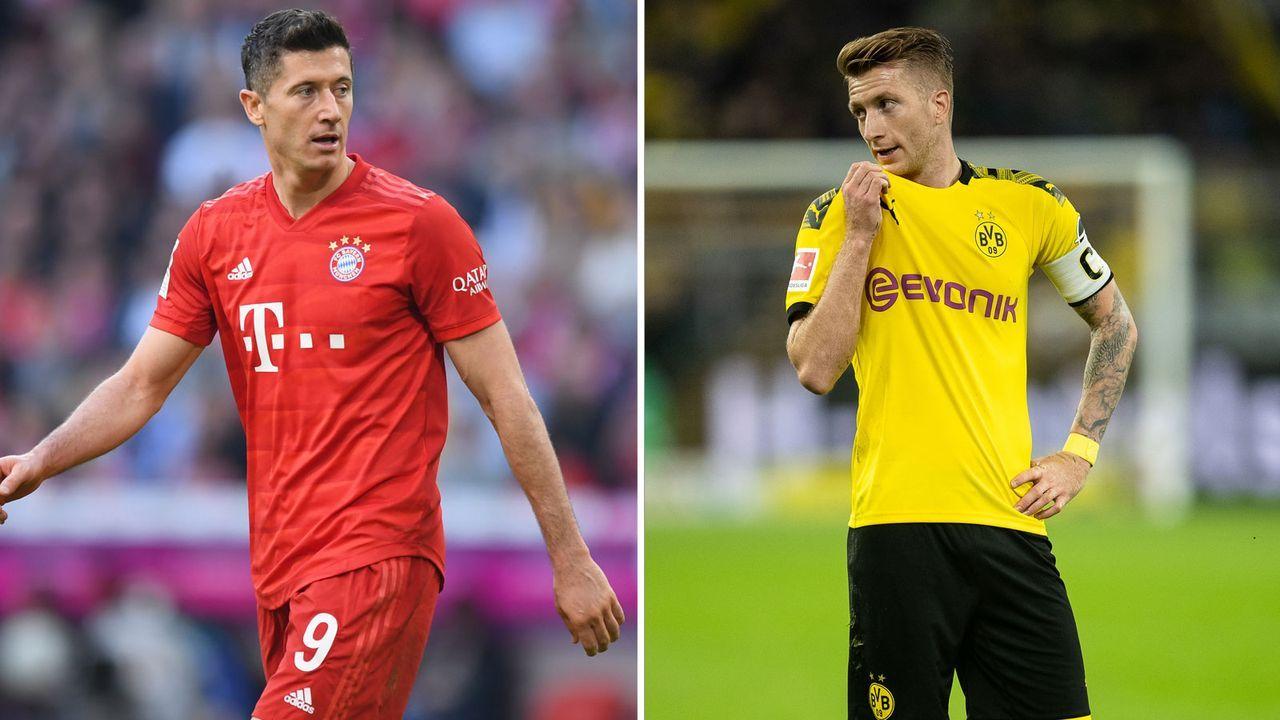 Angriff: Robert Lewandowski vs. Marco Reus - Bildquelle: Getty Images