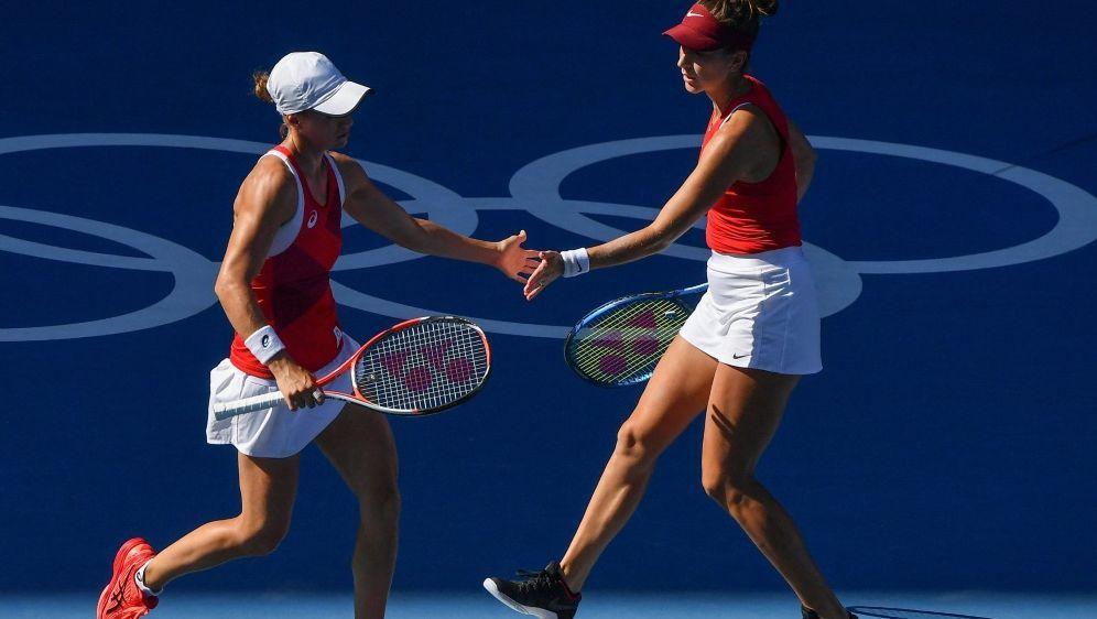 Das Doppel Bencic (R.)/Golubic verpasst die Goldmedaille - Bildquelle: AFPSIDTIZIANA FABI