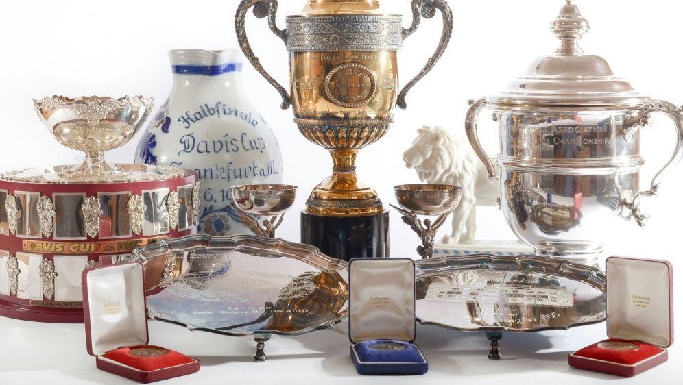 Auktion: Die Trophäen von Becker werden versteigert - Bildquelle: WYLES HARDY  AFPAFP