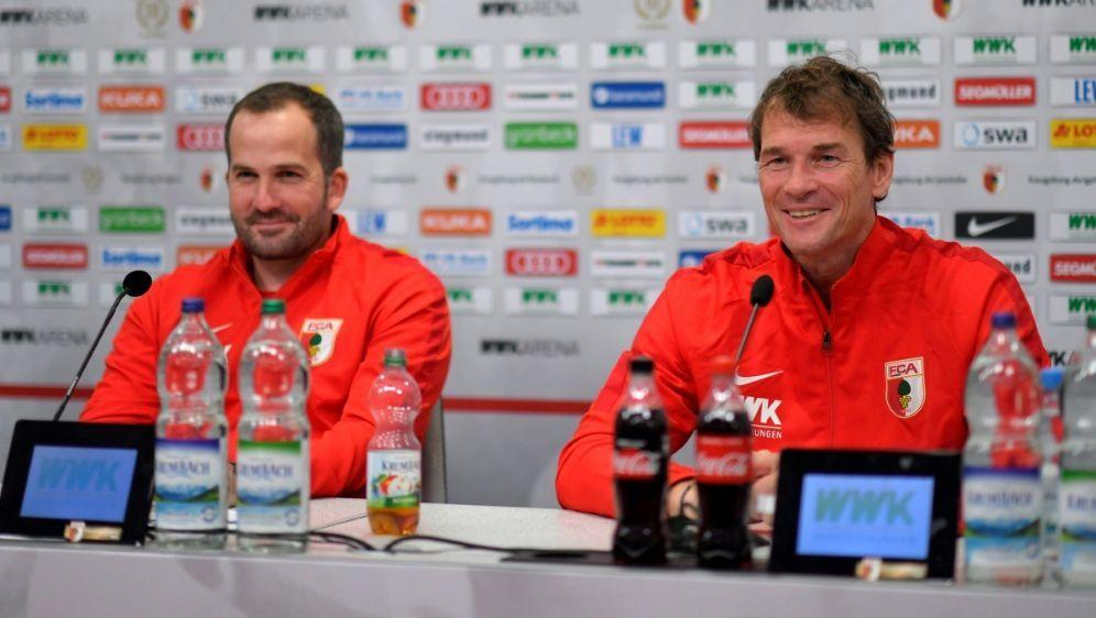 Manuel Baum (l.) ist mit Jens Lehmann sehr zufrieden - Bildquelle: PIXATHLONPIXATHLONSID