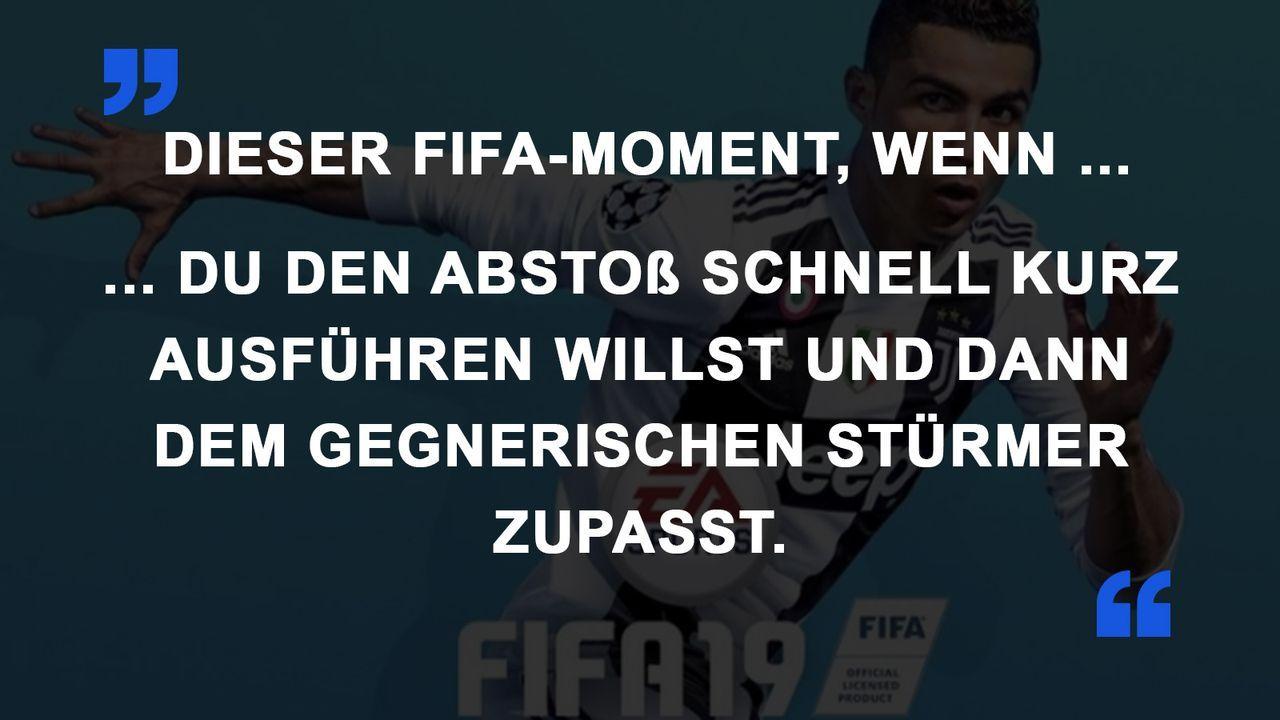 FIFA Momente Pass zum Gegner