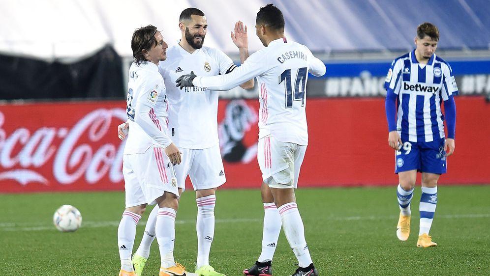 Real Madrid gibt es gegen Kellerkind Alaves keine Blöße. - Bildquelle: Getty Images