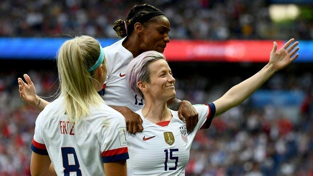 Megan Rapinoe erzielt gegen Frankreich einen Doppelpack - Bildquelle: AFPSIDFRANCK FIFE