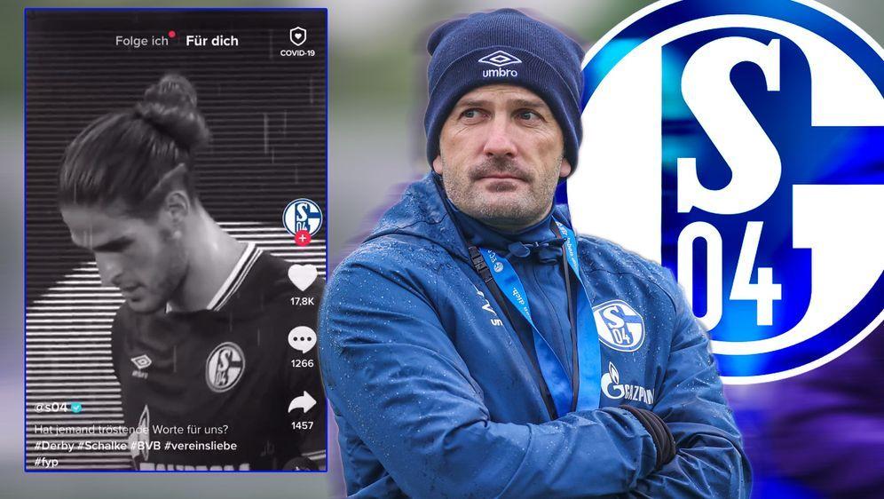 Der FC Schalke 04 hat sich auch auf Tik Tok nicht mit Ruhm bekleckert - Bildquelle: imago images/RHR-Foto
