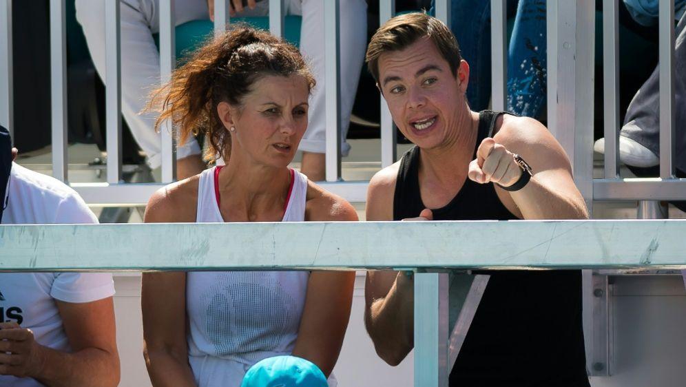 Tennis: Sascha Bajin (r.) coacht Kristina Mladenovic - Bildquelle: PIXATHLONPIXATHLONSID