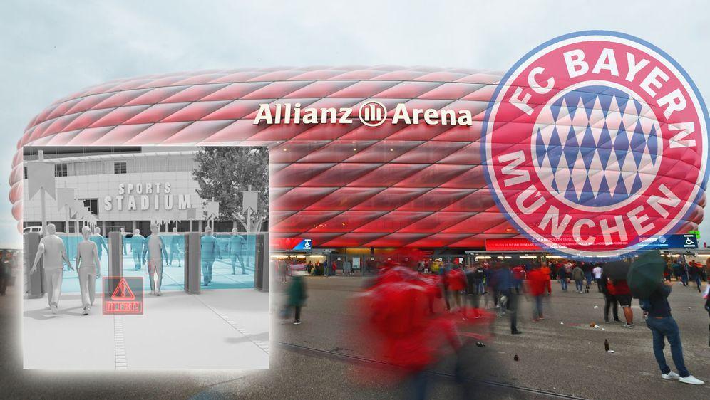 Der FC Bayern will 2020 ein neues Einlass-System an der Allianz Arena testen... - Bildquelle: 2018 Getty Images, libertydefense.com