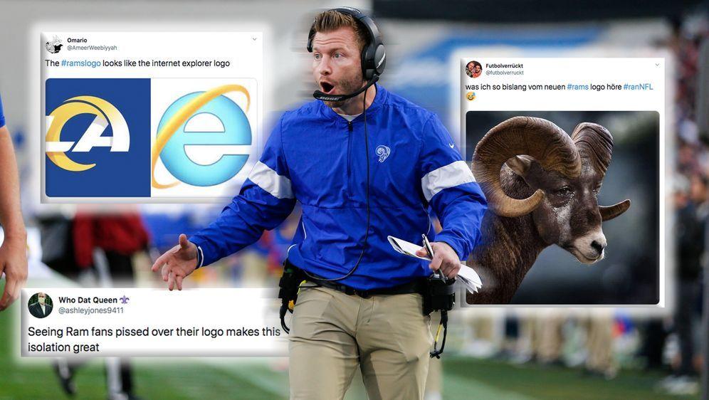 Die Netzreaktionen zur Präsentation des neuen Logos der Los Angeles Rams. - Bildquelle: imago images / Icon SMI
