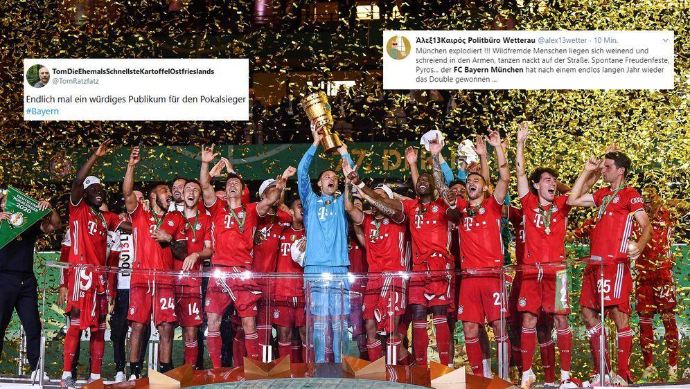 Der FC Bayern München hat erneut das Double gewonnen. Viele User machen sich... - Bildquelle: Marvin Ibo GŸngÅ¡r/GES