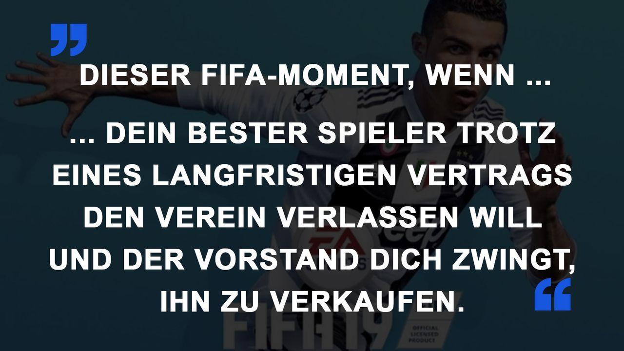 FIFA Momente bester Spieler weg