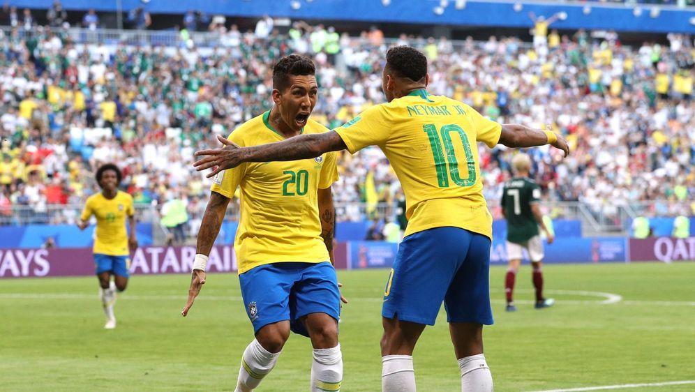 Neymar und Roberto Firmino schießen Brasilien ins WM-Viertelfinale - Bildquelle: getty