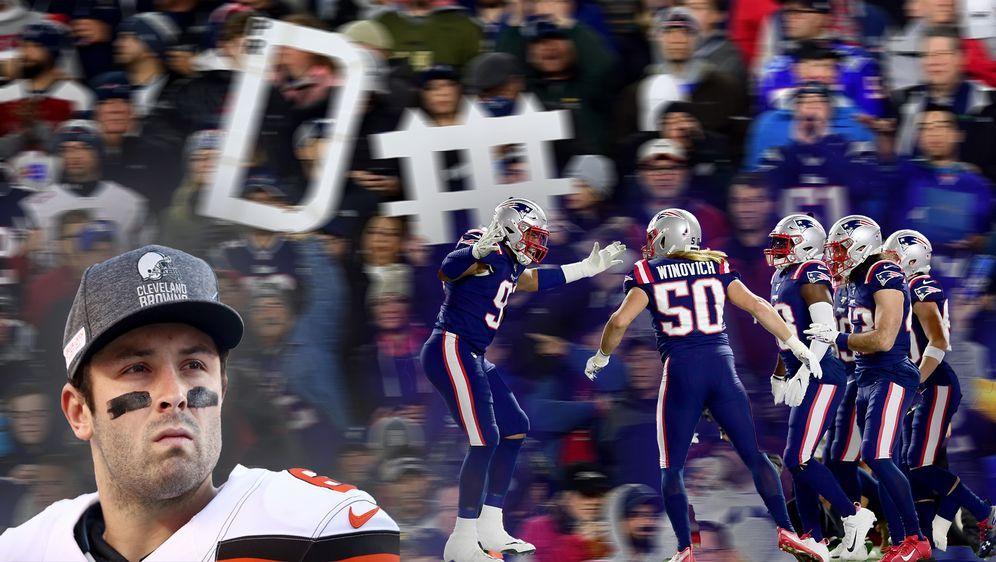 Mayfield gegen die Patriots-Defense - Bildquelle: Getty
