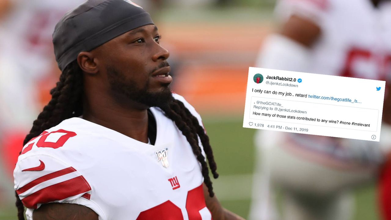 """Vollidiot!"": Giants-Star Janoris Jenkins legt sich mit Fan an - Bildquelle: imago images / Icon SMI"