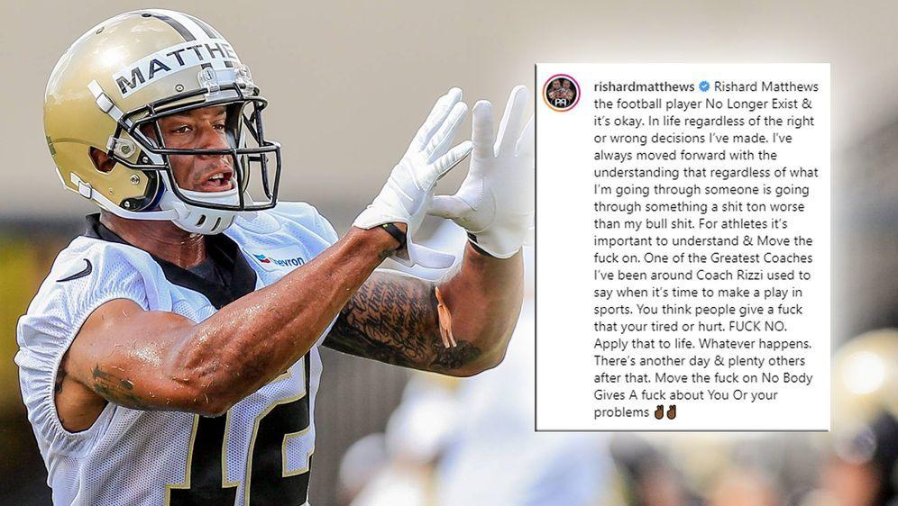 Rishard Matthews zieht ein verheerende Fazit hinter seine NFL-Karriere. - Bildquelle: imago images / Icon SMI