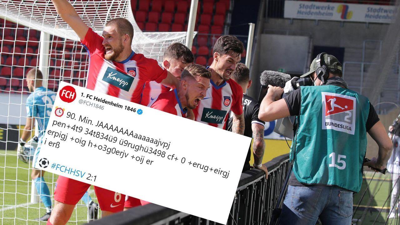 Heidenheim feiert Siegtor gegen HSV - Bildquelle: imago images/Sportfoto Rudel