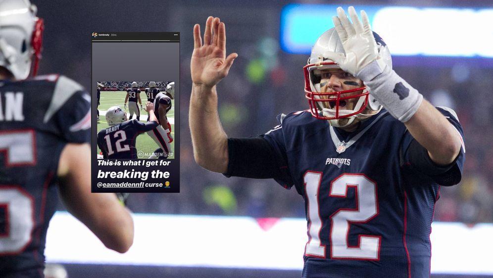 Tom Brady nimmt die High-Five-Fails mit Humor. - Bildquelle: imago/UPI Photo