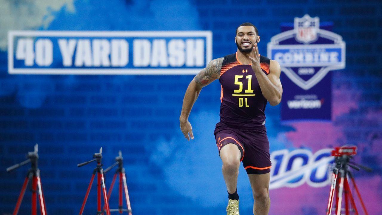 26. Pick - Washington Redskins: DE Montez Sweat (Mississippi State) - Trade mit Indianapolis Colts - Bildquelle: 2019 Getty Images