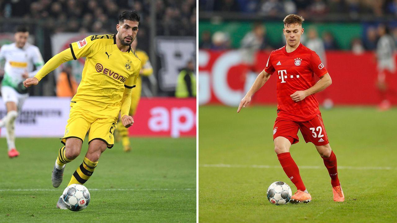 Defensives Mittelfeld: Emre Can vs. Joshua Kimmich - Bildquelle: imago images