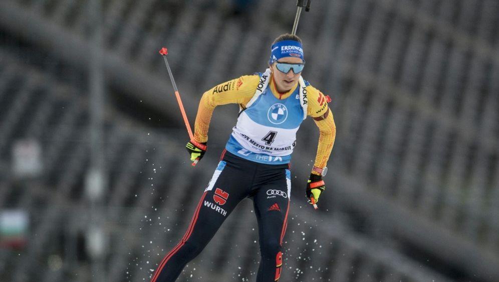 Franziska Preuß landet im Sprint nur auf Platz 23 - Bildquelle: AFPSIDMICHAL CIZEK