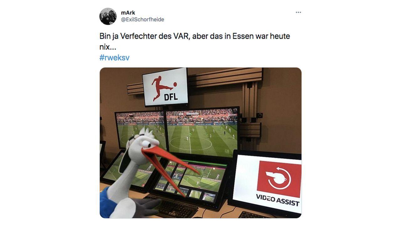 VAR-Wahnsinn im DFB-Pokal: So reagiert das Netz - Bildquelle: Twitter/@ExilSchorfheide