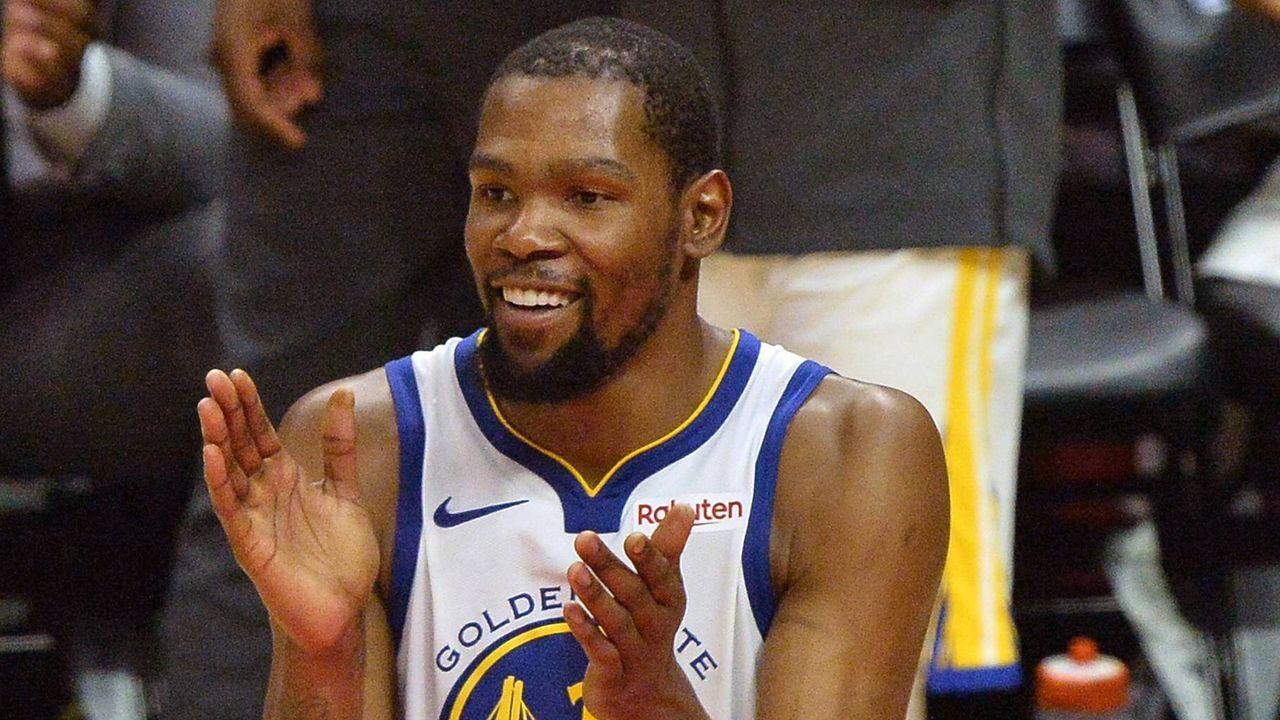 Platz 3: Kevin Durant (Golden State Warriors)     - Bildquelle: imago images / UPI Photo