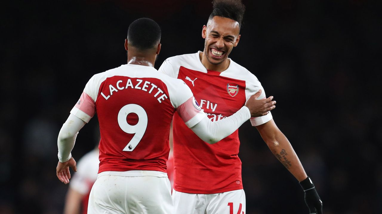 Pierre-Emerick Aubameyang und Alexandre Lacazette (FC Arsenal) - Bildquelle: 2019 Getty Images
