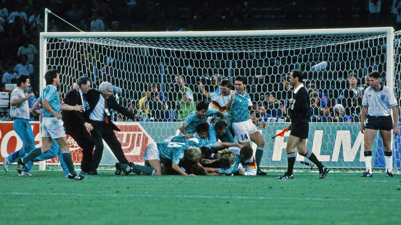 WM 1990: Deutschland - England 1:1 (1:1, 0:0) n.V., 4:3 i.E. - Bildquelle: imago images/Sportfoto Rudel