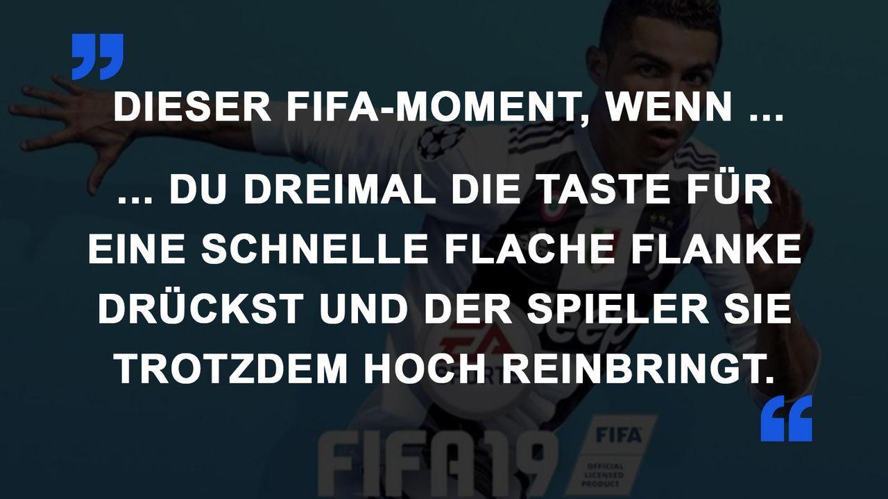 FIFA Momente hohe Flanke