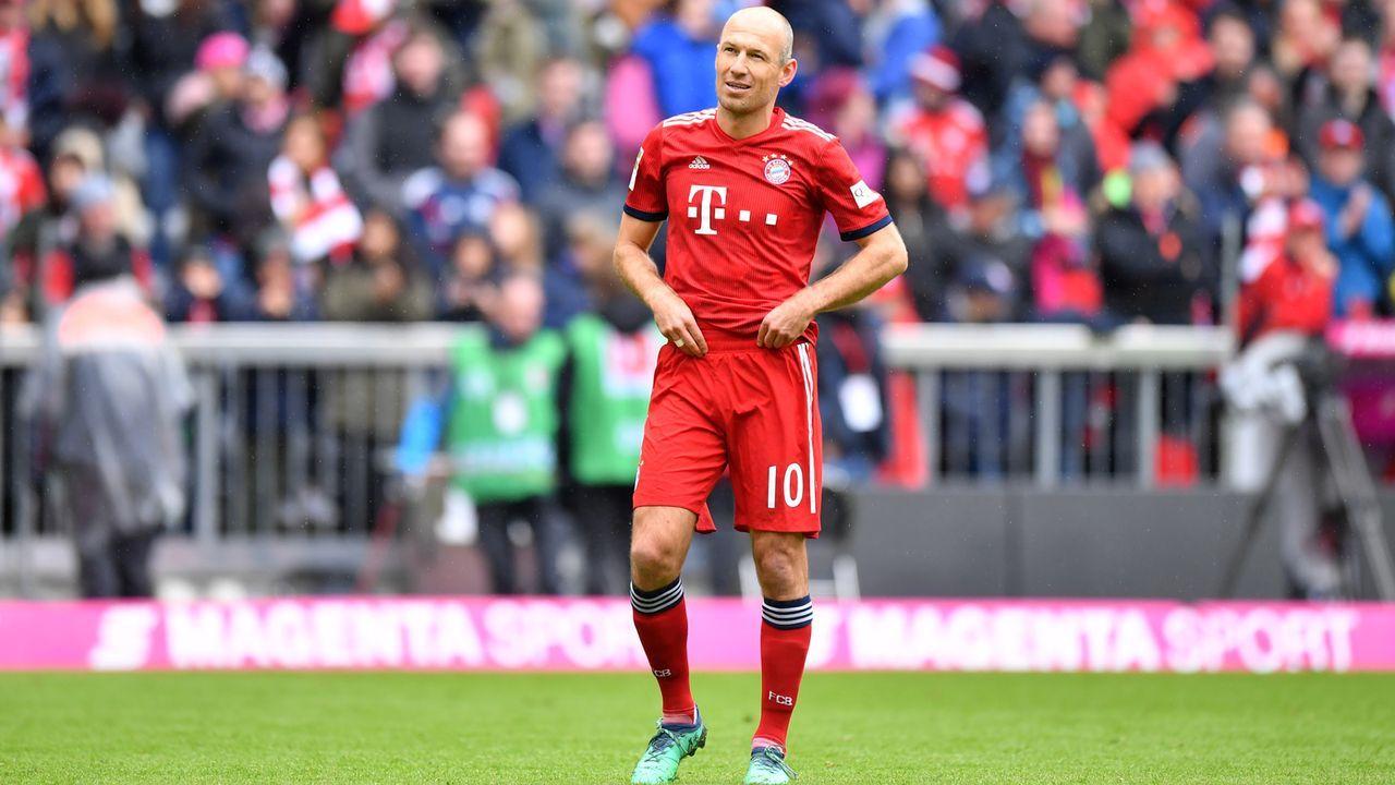 Platz 4 - Arjen Robben (FC Bayern München) - 152 Scorerpunkte - Bildquelle: 2019 Getty Images