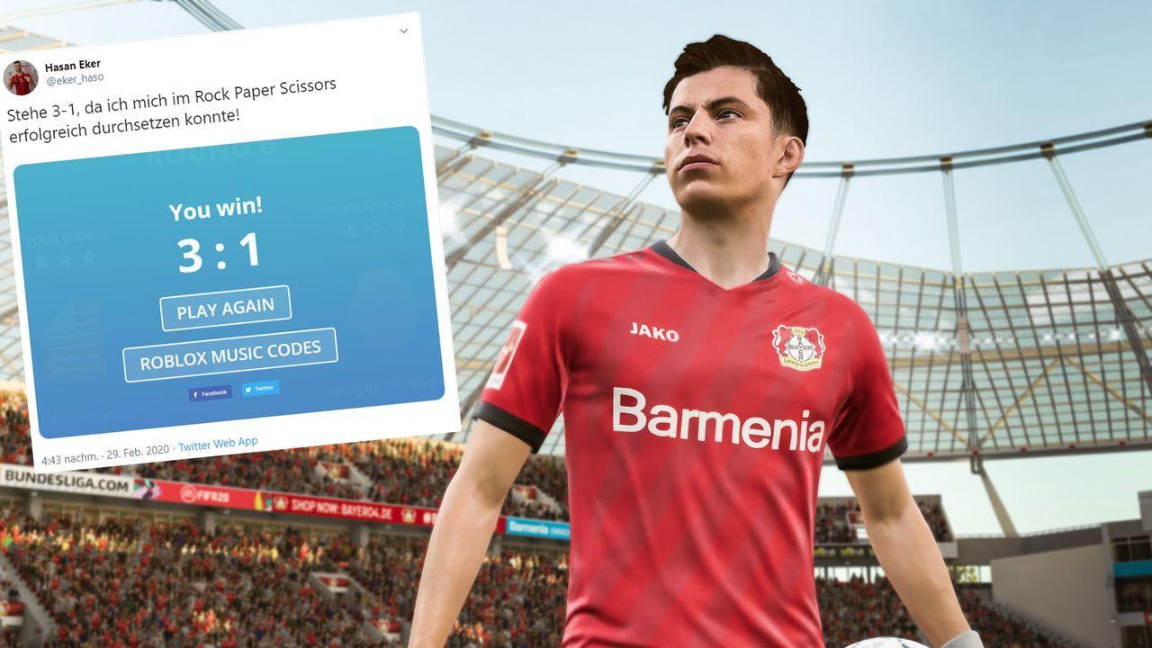 """FIFA-Partie wird durch """"Schere, Stein, Papier"""" entschieden - Bildquelle: EA Sports / twitter.com/eker_haso"""