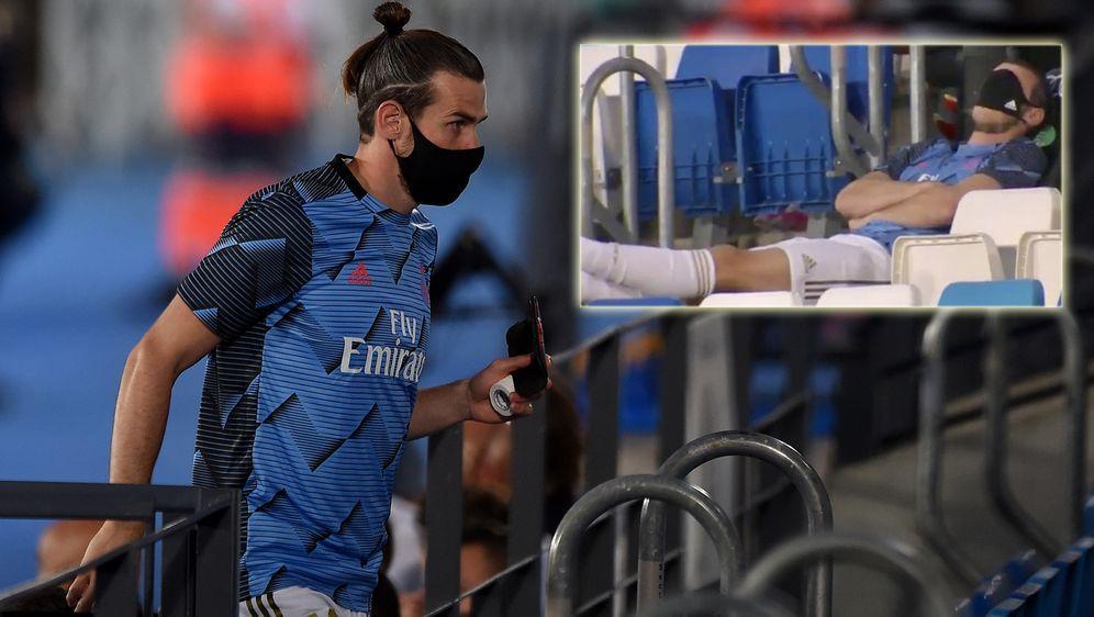Gareth Bale sorgt beim 2:0 gegen Alaves erneut für einen Eklat. - Bildquelle: Getty / Twitter