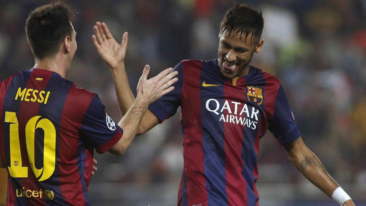 Lionel Messi und Neymar (FC Barcelona, Saison 2014/15) - Bildquelle: imago/Marca