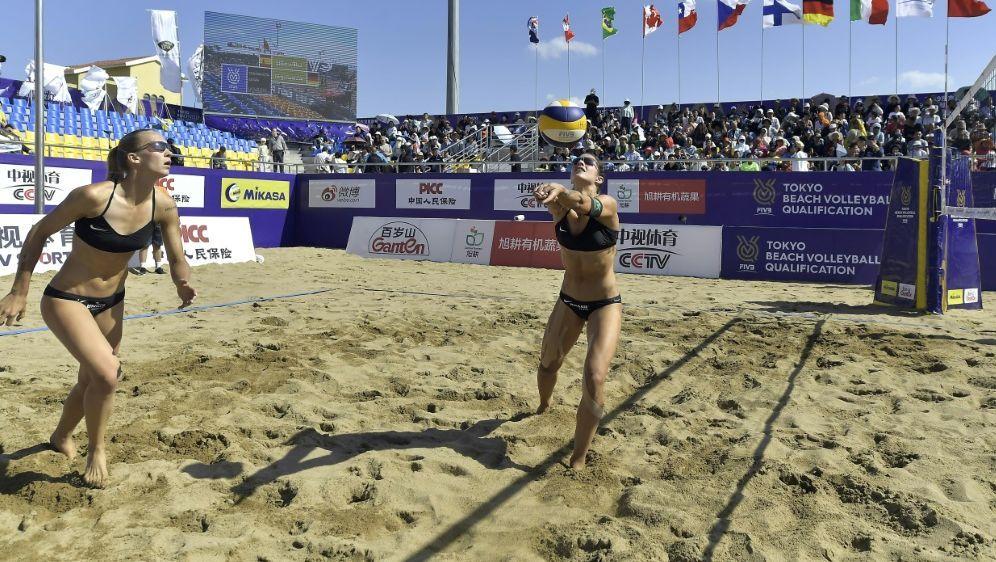 Knapp gescheitert: Sandra Ittlinger/Chantal Laboureur - Bildquelle: FIVBFIVBFIVB