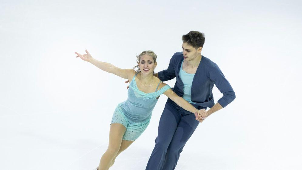 Das Siegerpaar: Minerva-Fabienne Hase und Nolan Seegert - Bildquelle: AFPGETTYSIDLindsey Wasson