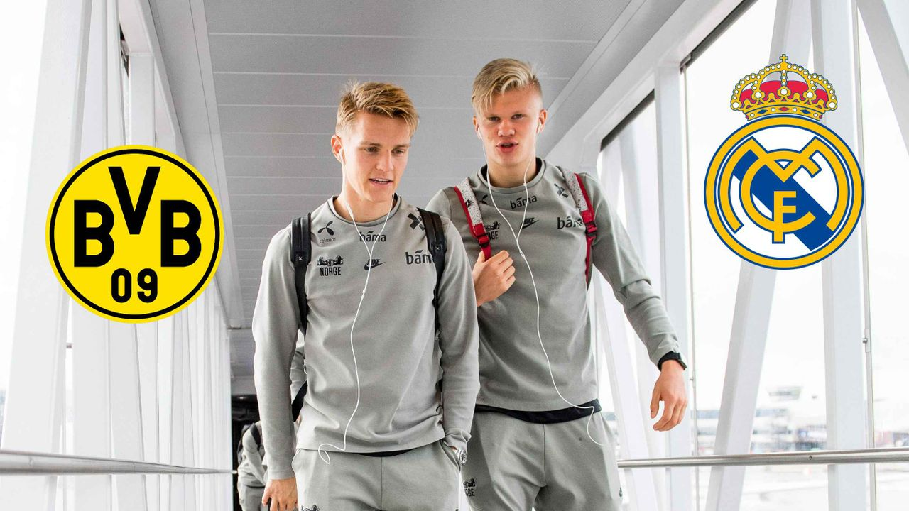 Erling Haaland (Borussia Dortmund), Martin Ödegaard (Real Madrid/FC Arsenal)  - Bildquelle: getty