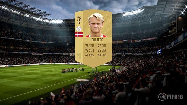 Platz 9: Kasper Dolberg (Ajax Amsterdam) - Bildquelle: EA Sports
