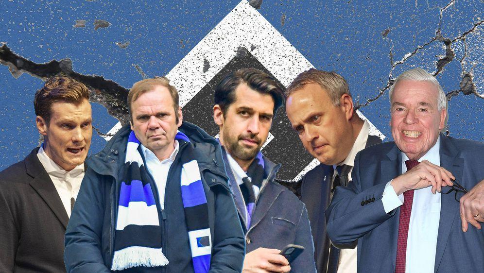 Marcell Jansen, Bernd Hoffmann, Jonas Boldt, Frank Wettstein und Klaus-Micha... - Bildquelle: imago