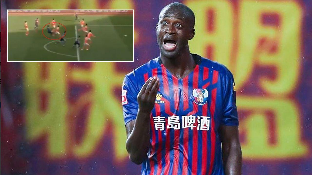 Yaya Toure sieht nach zehn Sekunden Rot - im allerletzten Spiel? - Bildquelle: twitter@BBCSport/twitter@FotMob