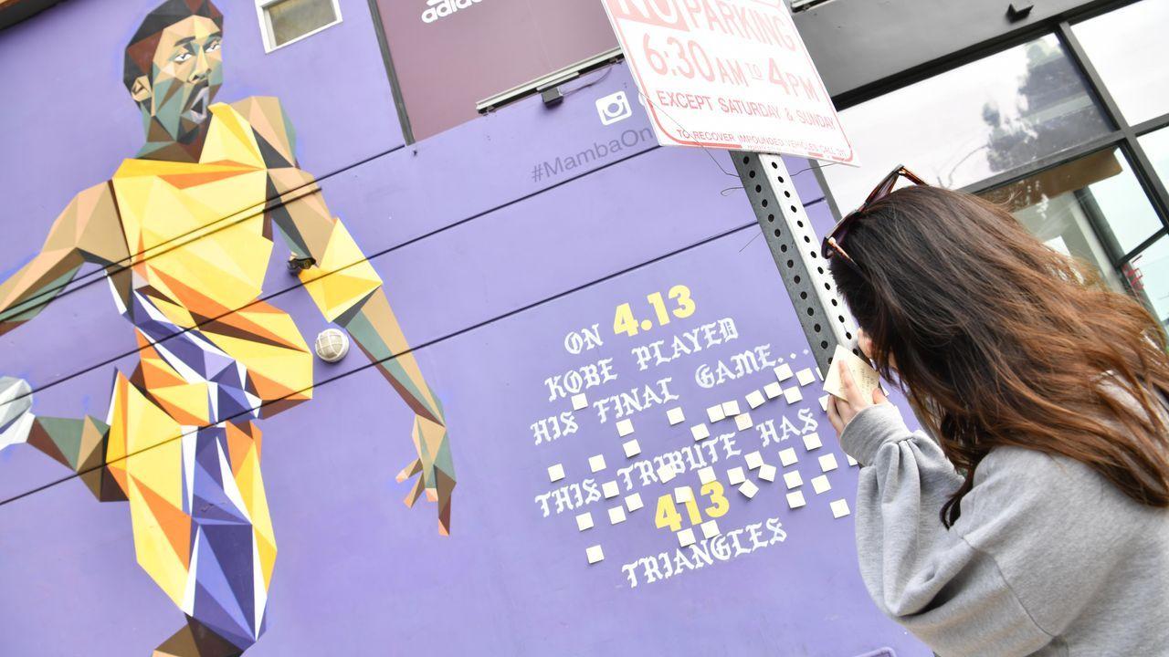 Fans an Kobe-Graffiti  - Bildquelle: 2020 Getty Images
