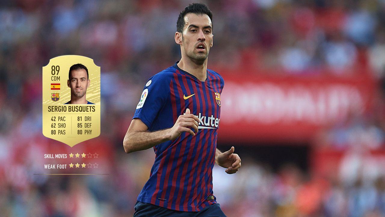 11. Sergio Busquets (FC Barcelona)  - Bildquelle: 2019 Getty Images