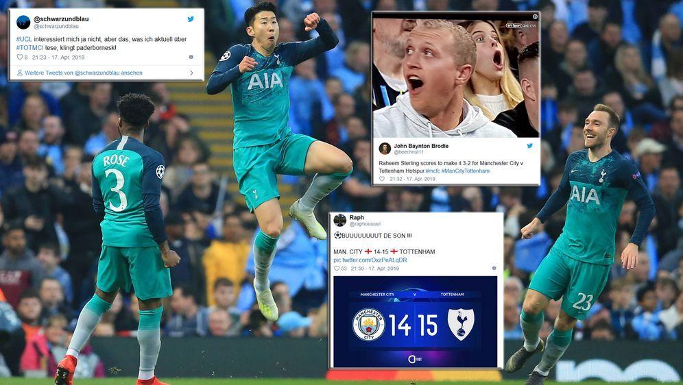 Manchester City und die Tottenham Hotspur lieferten sich im Viertelfinale de... - Bildquelle: imago images / PA Images