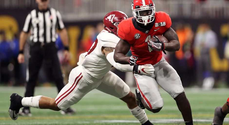 31. Pick - New England Patriots: RB Sony Michel - Bildquelle: getty
