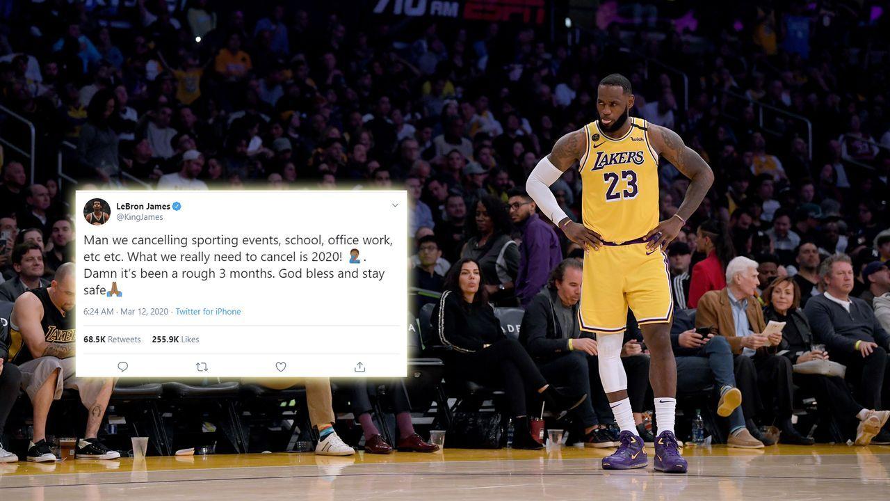 """LeBron James über Einstellung des NBA-Betriebs: """"Sagt lieber 2020 ab"""" - Bildquelle: getty"""