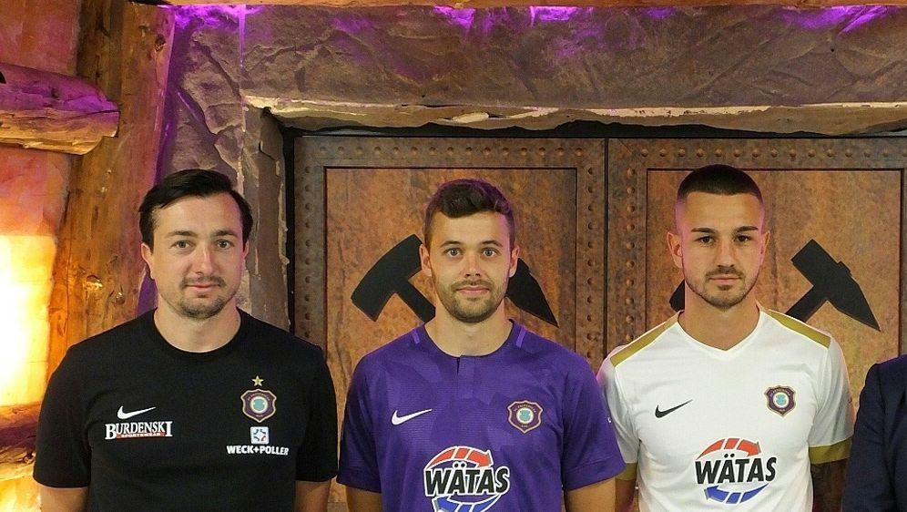 (v.r.) Filip Kusic und Robert Herrmann wechseln zu Aue - Bildquelle: FC ERZGEBIRGE AUEFC ERZGEBIRGE AUEFC ERZGEBIRGE AUE